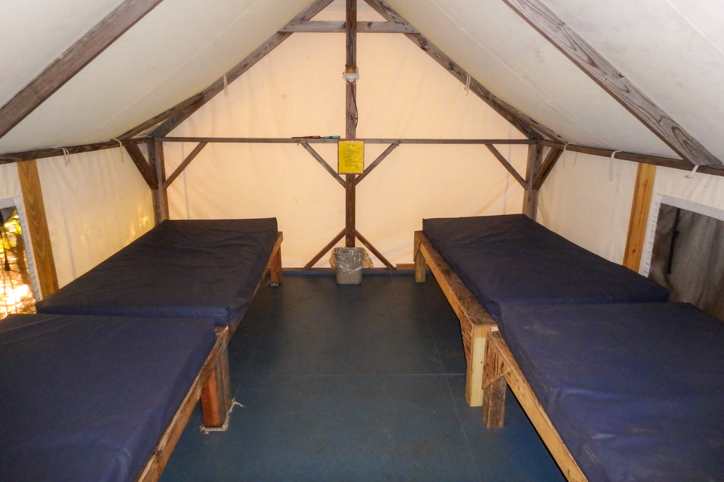 Twin cabin beds side by side
