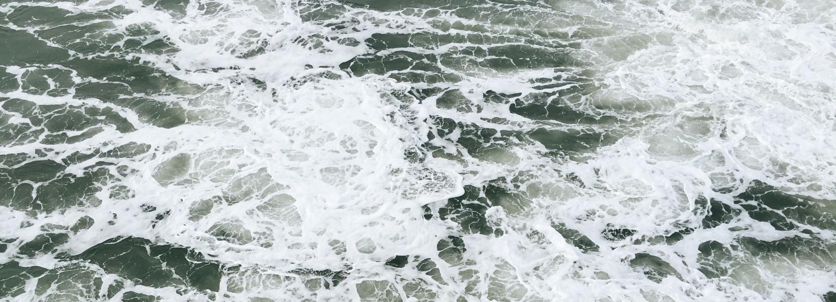Foamy water