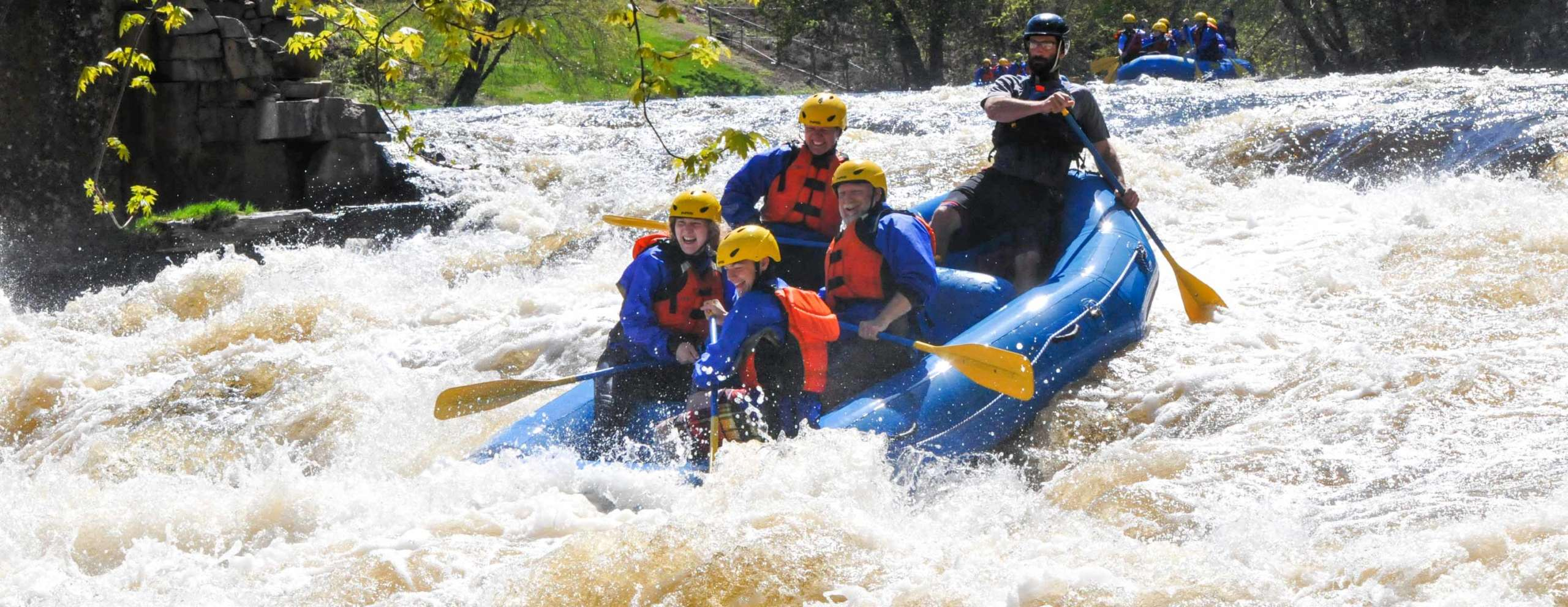 Groups on the concord river trip in big rapids
