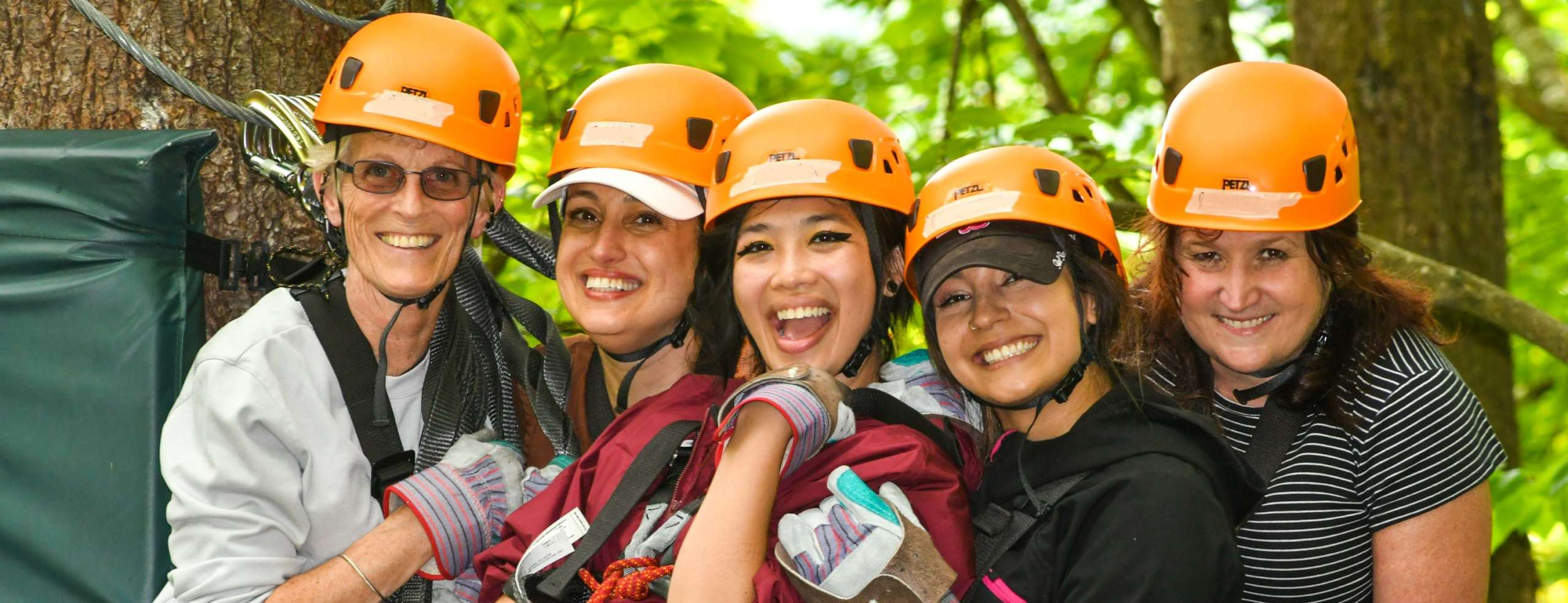 Bachelorette Group getting ready to go zip lining