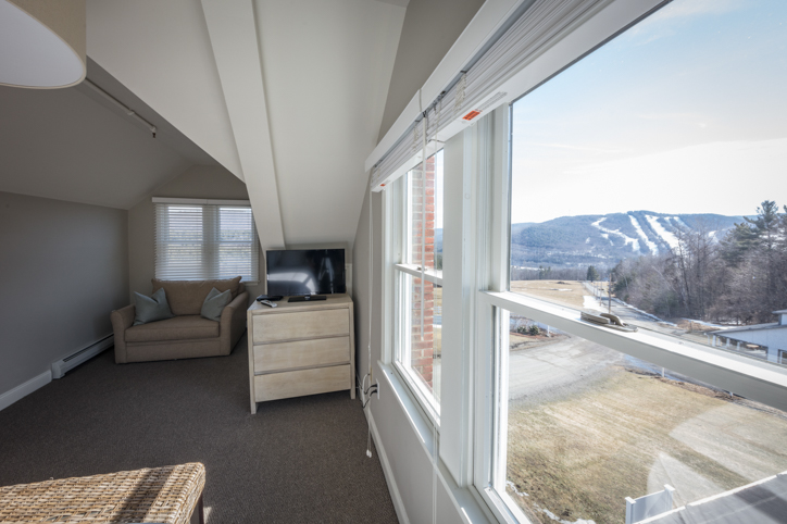 Beautiful mountain view from a bedroom window