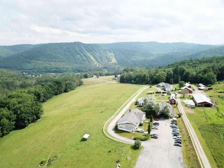 Aerial view of the Berkshire Inn wedding venue